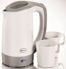 SWAN SK19010N ELECTRIC TRAVEL JUG KETTLE 0.5L WITH 2 CUPS