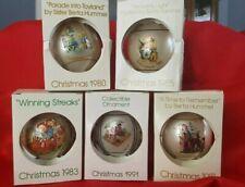 5 Hummel Christmas Ornaments Collector ball Series 80 81 83 85 91