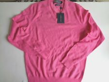 New Ralph Lauren Polo Summer Pink Cashmere V Neck Sweater size S