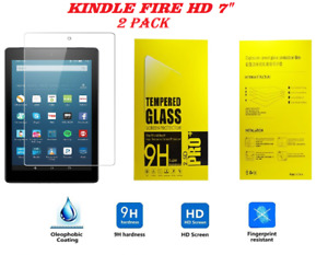 """2 Pack Genuine Tempered Glass Screen Protector For AMAZON KINDLE FIRE HD 7"""" inch"""