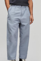 ALBAM Double Pleat Trousers Light Blue Mens size UK W30 R *REF24
