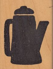 "tea pot hot potatoes Wood Mounted Rubber Stamp 2 1/4 x 3""  Free Shipping"