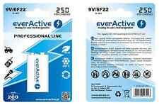 3 Stück EverActive Batterie Bloc Ready to Use 250 mAh 9V/6F22 Ni-Mh