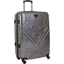 "28"" Superman Luxury Deluxe Gray Suitcase Luggage baggage Travel Bag Trolley"