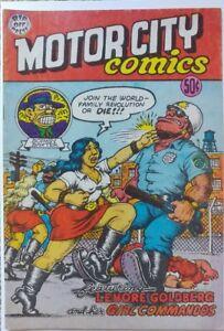 MOTOR CITY COMICS #1 3RD PRINT FN+ 6.5 RIP OFF PRESS 1969