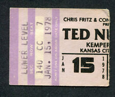 Original 1978 Ted Nugent concert ticket stub Kansas City Cat Scratch Fever
