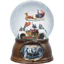Musical Moving Santa And Train Christmas Snow Globe Roman 36474 New Water Globe