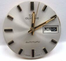Antique Glycine Auto 2nd hand Date/Day Watch Movement 26 mm #2538