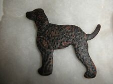 New In Box, Irish Water Spaniel Clay Lapel Pin, One of a Kind, by Jacqueline