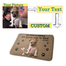 Personalised Customized Door Mat Entrance Rug Carpet Logo Pet Family Photo Print