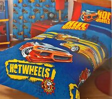 ~ Hot Wheels - CARS SINGLE BED DOONA QUILT DUVET REVERSIBLE BOYS COVER Fast