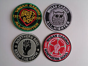 Wholesale 4 Northern Soul Wigan Casino Patches Iron / Sew On Patch Mod Scooter