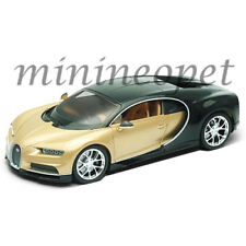 WELLY 24077 BUGATTI CHIRON 1/24 DIECAST MODEL CAR 2 TONE BLACK / GOLD