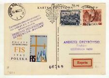 A1148) POLAND GLIDERS 1962 Expr PC Zacopane Krakrow