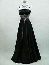 Cherlone Übergröße Schwarz Ballkleid Brautkleid Abendkleid Brautjungfer Kleid 48