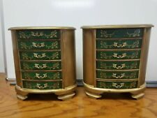 (2) Vintage/Antique (6) Drawer Musical Jewelry Box Armoire/Chest/Cabinet