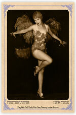 Ziegfeld/Film Star LOUISE BROOKS Vintage Photograph A++ Reprint Cabinet Card