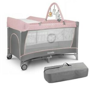 BABY TRAVEL BED FLOWER FLAMINGO TODDLER KIDS COT CHANGING ACCESSORIES LIONELO