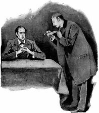 Sherlock Holmes da SIDNEY Paget 1891 7x5 pollici RISTAMPA