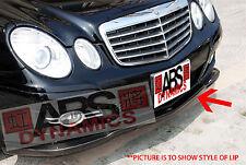 2007 Mercedes Benz E Class E350 W211 Euro Style Version 1 Front Lip Fiberglass