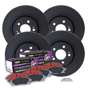 FULL SET DIMPLED SLOTTED DISC BRAKE ROTORS for HSV VE Maloo Clubsport R8