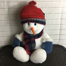 Commonwealth Snowman Plush 2000 Stuffed Animal 20 inches