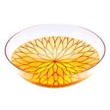 "AGJ Glass urushi Bowl ""Chrysanthemum"" Vermillion Dinnerware Urushi Japanese"