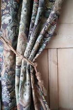 Morris & Co Forest Linen Luxury Thick Winter Portiere Door Curtain