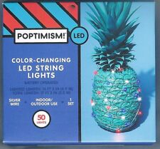 50 CT RED AND BLUE COLOR-CHANGING LED STRING LIGHTS ~ BATTERY OPERATED ~ NIP