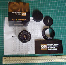 Vintage 1980s Olympus Zuiko Wide Angle Lens Auto-W F3.5 f=28mm Boxed - Superb