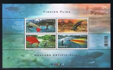 FISHING Flies MNH Souvenir Sheet of 4 Canada 2005 Cat 2087