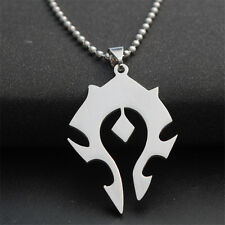 Fashion World of Warcraft WoW Cosplay Horde Pendant/Symbol Silver Tone Necklace