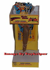 Super Heroes String Puppets Superman Wonder Woman Batman Store Display NIB 1978