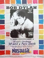PUBLICITE  RADIO  NOSTALGIE  BOB DYLAN  ANNEE 2002   REF 8424