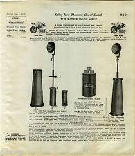 1916 ADVERT Carbic Flare Light Railroad Mine Miners Use Calcium Carbide Lamp