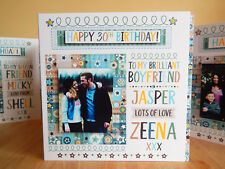 Birthday boy birthday card Personalised name & PHOTO Special card boy birthday