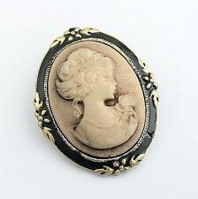 Vintage Style Cameo Brooch head  Pin For Women Wedding Costume