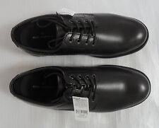 M&S Men UK10.5/EU45 Black Leather Lace Up Gibson Shoes, BNWT