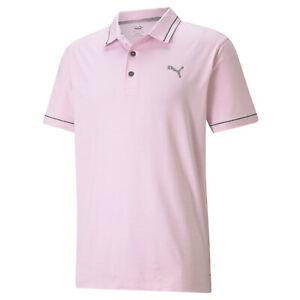 NEW Puma Cloudspun Monarch Pink/Quiet Shade Golf Polo/Shirt Men's Medium (M)