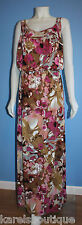 Suzi Chin for Maggy Boutique Floral Print Racerback Blouson Dress Size 16W