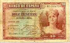 ESPAGNE SPAIN ESPANA 10 Pts 1935 état voir scan 758 bis