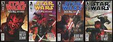 Star Wars Darth Maul Death Sentence Comic Set 1-2-3-4 Lot Savage Opress Obi-Wan