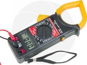 AC/DC Clamp VoltMeter Multimeter Voltage Current Resistance Continuity Tester