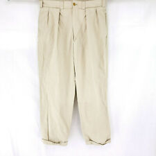 Bills Khakis M1P 32x30 Pleated Cuffed Chinos Work Dress Pants Casual Relaxed