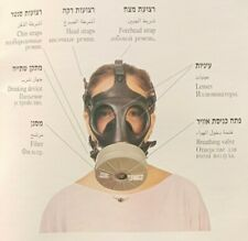 IDF Israeli Gas Mask Face Mask Adult protective kit 1996