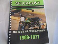 Suzuki T125 Stinger  parts & service combo  manual  1969-1971