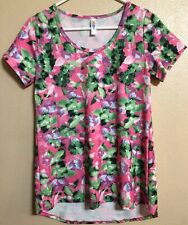 Lularoe Pink Green Floral Classic Tee T Shirt Sz  Extra Small XS