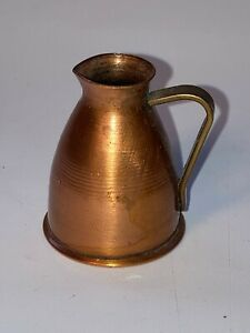 Vintage Artisan Dollhouse Copper & Brass Jug / Pitcher Handmade Dollhouse Decor