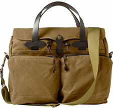 Filson 24 Hour Tin Cloth Briefcase Computer Case Bag Tan New W/Tags 70140 140