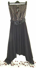 BNWT - LADIES LOVELY SPARKLY BLACK HAREM PANT EVENING WEAR BY HEAVEN - SIZE 10